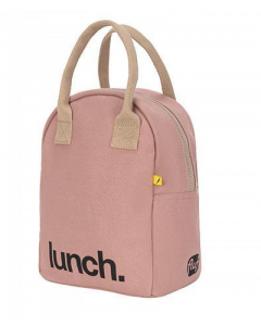 FLUF MAUVE Lunch Bag with Zipper