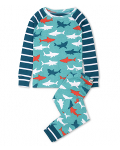 Hatley Pyjamas | White Sharks | 100% Organic Cotton