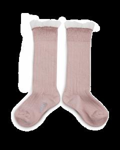 Collegien Socks Avec Tulle | Vieux Rose