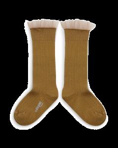 Collegien Socks Avec Tulle | Moutarde