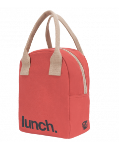FLUF RED Lunch Bag with Zipper