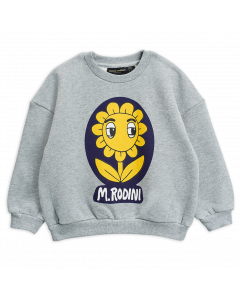 Mini Rodini | Flower Sweatshirt in Grey Marl