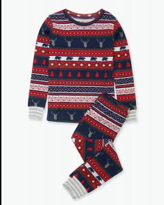 Hatley Pyjamas | Fair Isle Stags | Organic Cotton PJs