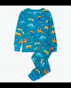 Hatley Pyjamas   Superhero Dinos PJ Set   Organic Cotton