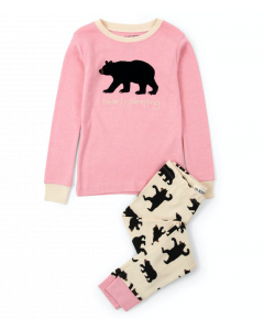 Hatley Pyjamas | Bearly Sleeping | Pink
