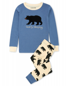 Hatley Pyjamas | Bearly Sleeping | Blue