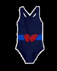 mini rodini | seahorse swimsuit | navy blue
