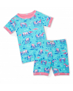 Hatley Organic Pyjamas | Painted Pasture | Short PJ Set