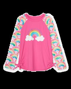 Hatley Swimwear | Girls Rashguard | Over the Rainbow