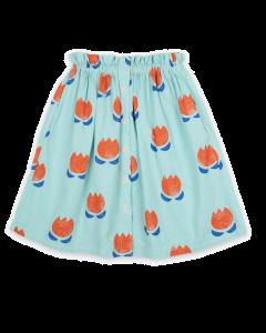 Bobo Choses | Chocolate Flowers Midi Skirt | Organic Cotton