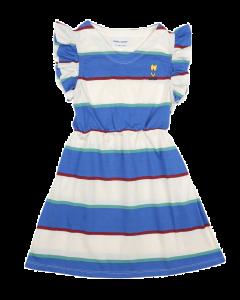Bobo Choses | Stripes Jersey Ruffle Dress | Organic Cotton