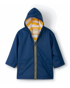Hatley Raincoat | Navy & Yellow Splash Jacket