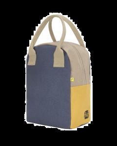 Fluf Lunch Bag | Zipper | Navy & Mango