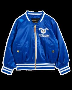 Mini Rodini Satin Baseball Jacket | Blue