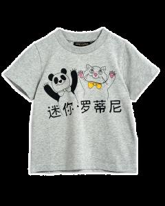 Mini Rodini | Cat & Panda | Organic Tee Shirt