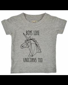 Rocket & Rose | Boys Like Unicorns Too | Short Sleeve T-Shirt