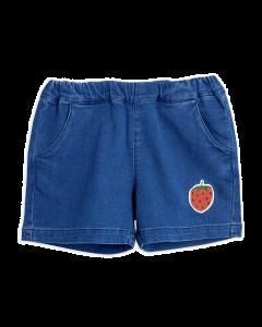 Mini Rodini | Denim Strawberry Shorts | Organic Cotton