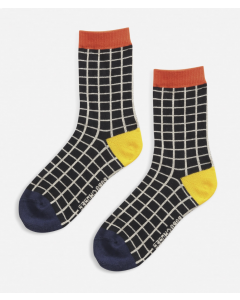 Bobo Choses | Black Checkered Short Socks
