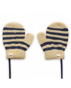 Bobo Choses Knitted Mittens | Black Stripe