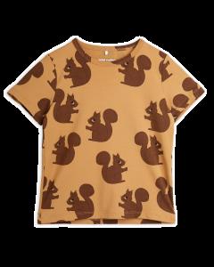 Mini Rodini | Squirrel Short Sleeve Tee | Brown