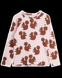 Mini Rodini | Squirrel Long Sleeve Tee | Pink