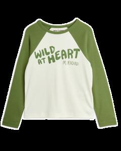 Mini Rodini | Wild at Heart Long Sleeve Tee | Green