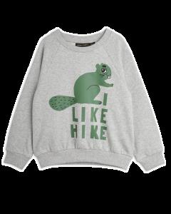 Mini Rodini | Beaver Hike Sweatshirt | Grey Melange
