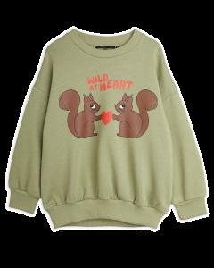 Mini Rodini | Wild at Heart Sweatshirt in Green