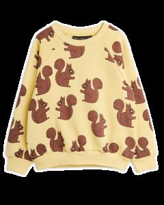 Mini Rodini | Squirrel AOP Sweatshirt | Yellow | SKiN&BLiSS