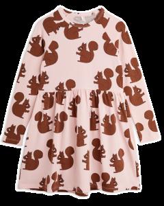 Mini Rodini | Squirrels Long Sleeve Dress in Pink