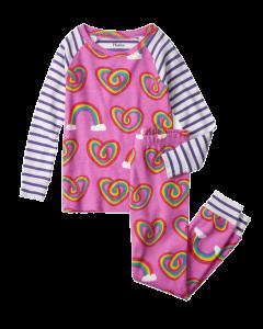 Hatley Organic PJs | Twisty Rainbow Hearts
