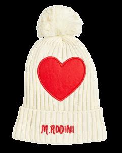 Mini Rodini | Heart Pompom Hat