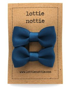 Lottie Nottie | Small Bows | Navy